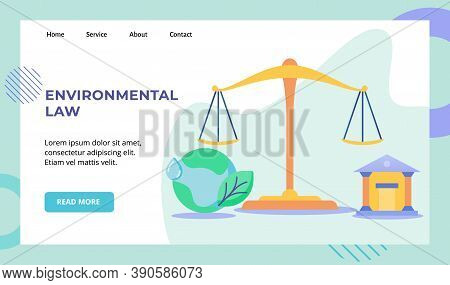 Environmental Law Equal Scale Court Earth Campaign For Web Website Home Homepage Landing Page Templa