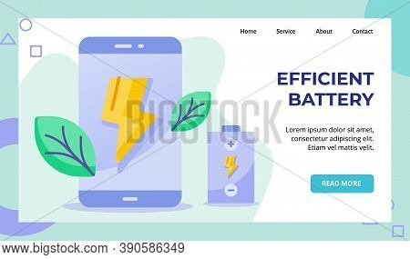 Efficient Battery Lightning On Display Smarftphone Screen Battery Campaign For Web Website Home Home