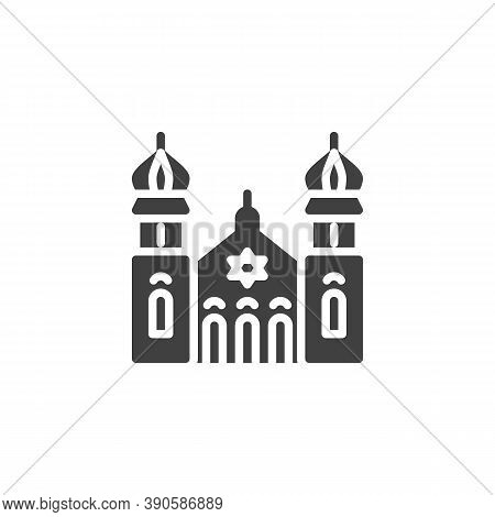 Synagogue Building Vector Icon. Filled Flat Sign For Mobile Concept And Web Design. Jewish Synagogue