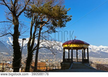 Arbor in Innsbruck Austria - architecture and nature background