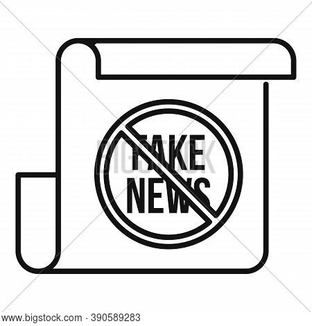 Fake News Icon. Outline Fake News Vector Icon For Web Design Isolated On White Background