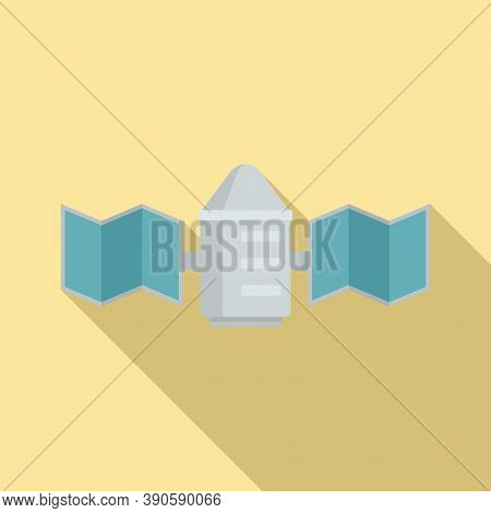 Transmitter Satellite Icon. Flat Illustration Of Transmitter Satellite Vector Icon For Web Design