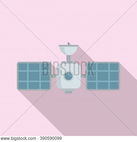 Tower Satellite Icon. Flat Illustration Of Tower Satellite Vector Icon For Web Design