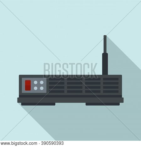 Network Satellite Icon. Flat Illustration Of Network Satellite Vector Icon For Web Design