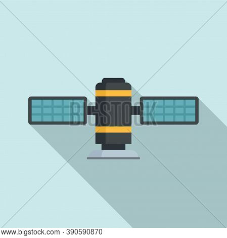 Radar Satellite Icon. Flat Illustration Of Radar Satellite Vector Icon For Web Design
