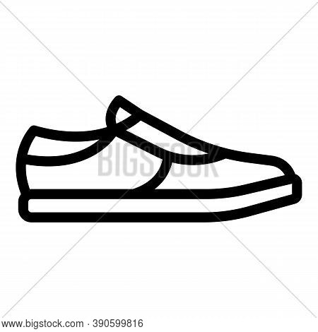 Sport Footwear Icon. Outline Sport Footwear Vector Icon For Web Design Isolated On White Background