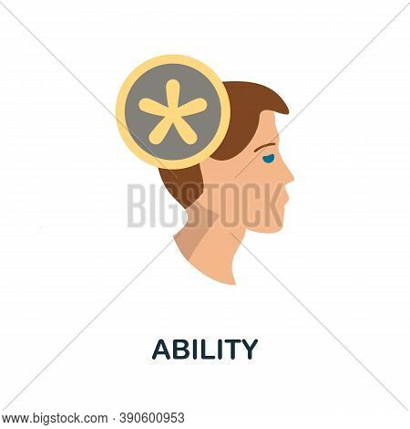 Ability Icon. Simple Element From Business Growth Collection. Creative Ability Icon For Web Design,