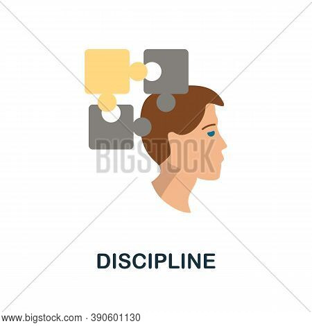 Discipline Icon. Simple Element From Business Growth Collection. Creative Discipline Icon For Web De