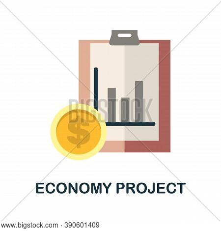 Economy Project Icon. Simple Element From Business Growth Collection. Creative Economy Project Icon