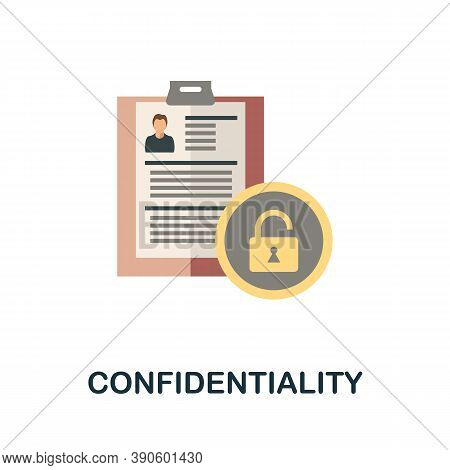 Confidentiality Icon. Simple Element From Business Growth Collection. Creative Confidentiality Icon