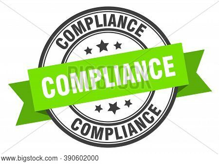 Compliance Label. Compliance Green Band Sign. Stamp