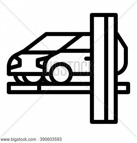 Car Lift Icon. Outline Car Lift Vector Icon For Web Design Isolated On White Background
