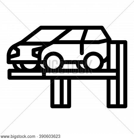 Car Lifting Icon. Outline Car Lifting Vector Icon For Web Design Isolated On White Background