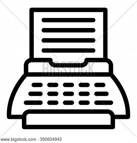Cinema Scenario Icon. Outline Cinema Scenario Vector Icon For Web Design Isolated On White Backgroun