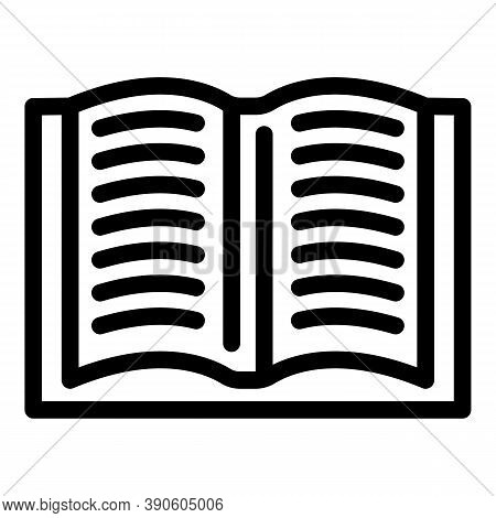 Book Scenario Icon. Outline Book Scenario Vector Icon For Web Design Isolated On White Background