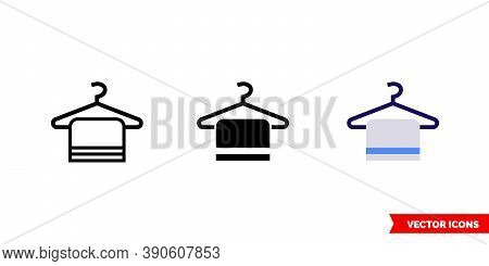 Cloakroom Icon Of 3 Types Color, Black And White, Outline. Isolated Vector Sign Symbol.