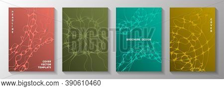 Irregular System Concept Abstract Vector Covers. Liquid Curve Lines Fusion Textures. Stylish Banner