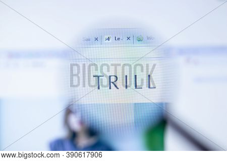 New York, Usa - 29 September 2020: Trill Trilltrill.jp Company Website With Logo Close Up, Illustrat