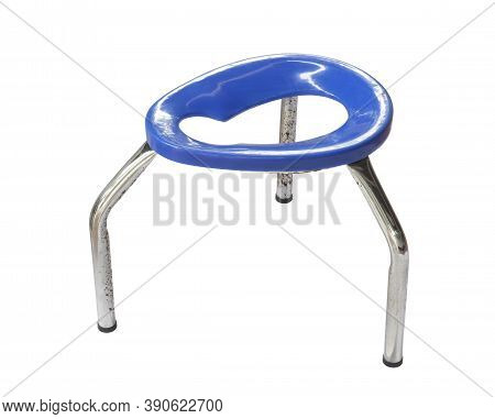 Raised Toilet Chair Three Legged (with Clipping Path) Isolated On White Background