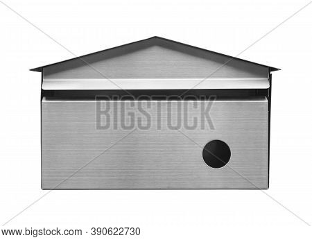 Stainless Steel Mailbox (with Clipping Path) Isolated On White Background