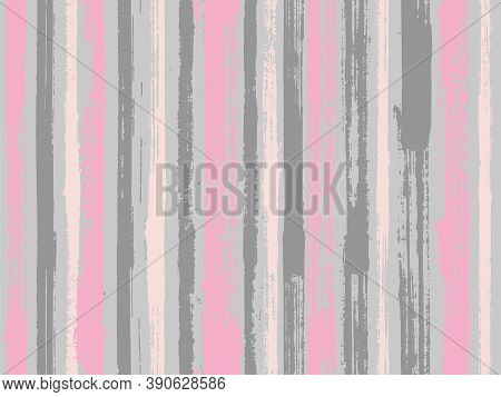 Watercolor Strips Seamless Vector Background. Multicolor Ethnic Sample Swatch Design. Striped Tablec