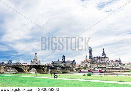 DRESDEN, GERMANY - July 23, 2017: The Dresden Frauenkirche, Germany