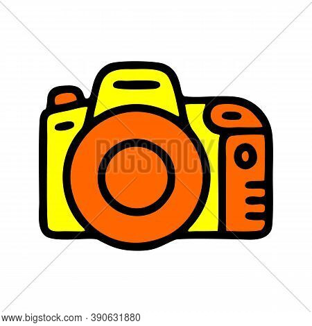 Dslr Camera Icon Isolated On White Background From Internet Of Things Collection. Dslr Camera Icon T