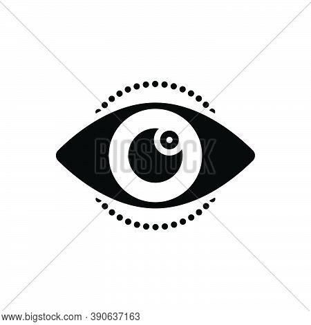 Black Solid Icon For See View Look Perceive Sight Optical Eyesight Lens