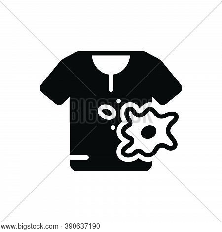 Black Solid Icon For Spot Stain Smear Blot Splotch  Cloth Ink Splatter Spatter Bespatter