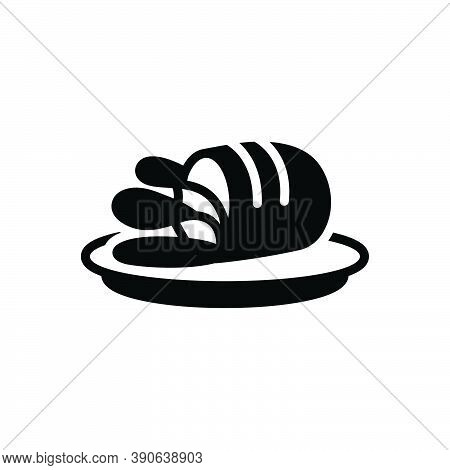 Black Solid Icon For Meat Flesh Food Grub Beef Protein Grilled Chicken Cooking Delicious Healthy