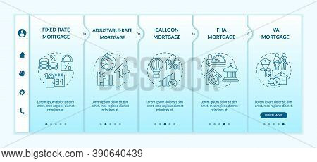 Mortgage Loan Types Onboarding Vector Template. Adjustable-rate Mortgage. Veterans Affairs Type. Res