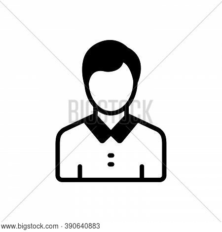 Black Solid Icon For Adolescent Teenager Youngster Young-person Youth Juvenile Minor Teeny-bopper
