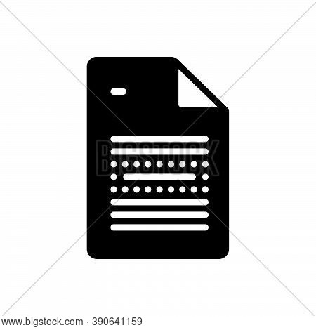 Black Solid Icon For Emphasis Text Importance Insistence Priority Significance Preeminence