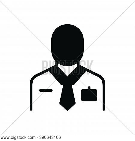 Black Solid Icon For Employee Worker Member-of-staff Staffer Laborer Practician Roustabout Working-m