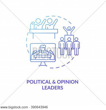 Political And Opinion Leader Concept Icon. Influencers Type Idea Thin Line Illustration. Electoral P