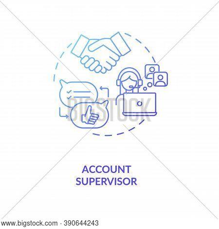 Account Supervisor Concept Icon. Account Management Idea Thin Line Illustration. Motivating, Coachin