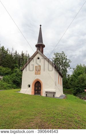 Small Chapel Church In Tyrol Alps, Austria