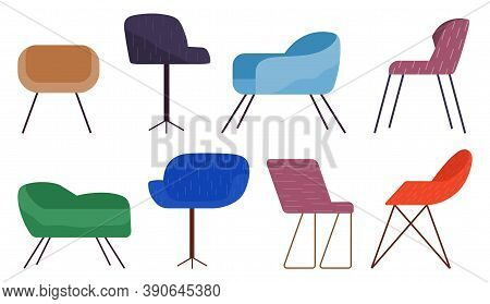 Chairs Collection, Comfortable Seat, Armchairs, Cozy Furniture For Home Or Office, Place For Relax,