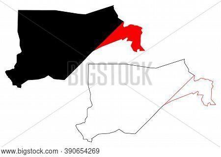 Eastern Equatoria State (states Of South Sudan, Equatoria Region) Map Vector Illustration, Scribble
