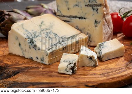 Cheese Collection, Italian Gorgonzola Cheese Made From Unskimmed Cow Milk In Piedmont And Lombardy