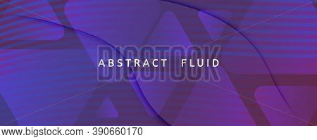 Red Dynamic Abstract. Fluid Shapes Poster. 3d Background. Vivid Digital Layout. Geometric Memphis Dy