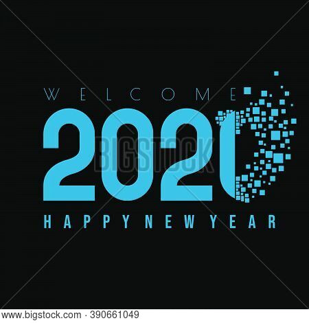 Happy New Year 2021 Vector Illustration With Gone Of 2020 And Welcome 2021 Concept Design. Good Temp