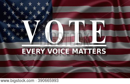 Election Day. Election Voting Poster. Vote 2020 In Usa, Banner Design. Political Election Campaign
