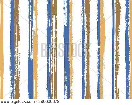 Watercolor Thin Parallel Lines Vector Seamless Pattern. Material Gift Wrapping Paper Design. Vintage