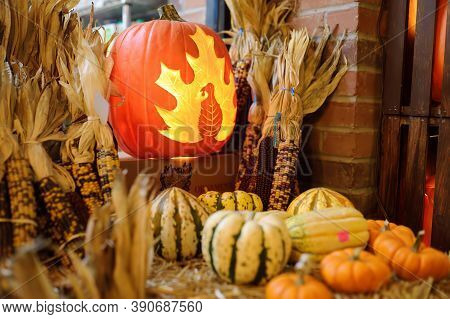 New York, Usa - October 20, 2018: Traditional Marketplace Chelsea Market In New York.scared Hallowee