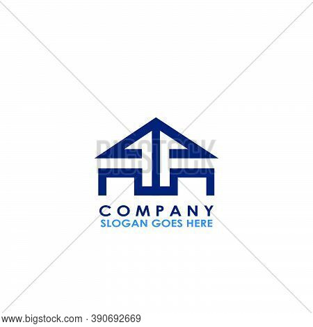 Building House M Letter Logo With Building House Vector Design Of Arrow Up Architectur For Business,