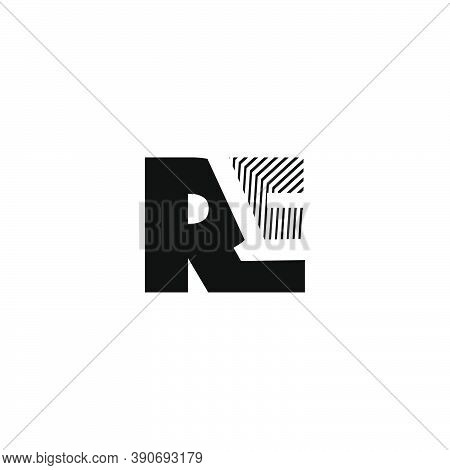 Re Letter Logo, Creative Striped Logo Design Template For Business Identity