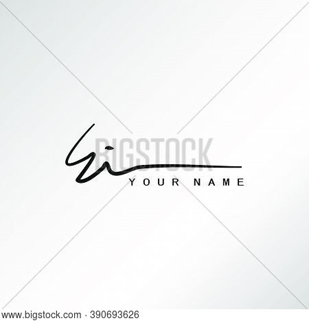 Signature Logo E And I, Ei Initial Letter Logo Design. Handwriting Calligraphic Signature Logo Desig