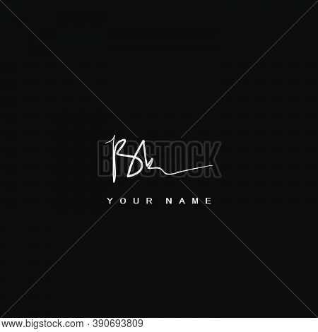 Signature Logo  B And K, Bk Initial Letter. Handwriting Calligraphic Signature Logodesign.