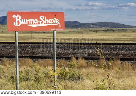 Route 66 Usa - September 29 2015.burma Shave, Historic American Brand  Famous For Its Advertising Gi